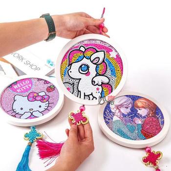 DIY diament malarstwo mozaika dzieci sztuka i rzemiosło zestawy przedszkole zabawki edukacyjne kreatywne zabawki dla dziewczyn prezent Puzzle zabawki tanie i dobre opinie 5 ~ 7 Lat 8 ~ 13 Lat Zwierzęta i Natura XMJ-0219 NONE