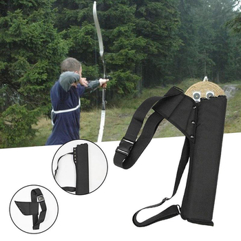 Arrow Bag 49*14 cm Oxford Cloth Arrow Quiver 3 Tubes Single Shoulder for Bow and Arrow Archery Hunting Shooting Accessories cowhide leather shoulder back large capacity quiver arrow holder for compound recurve bow shooting hunting archery arrow quiver