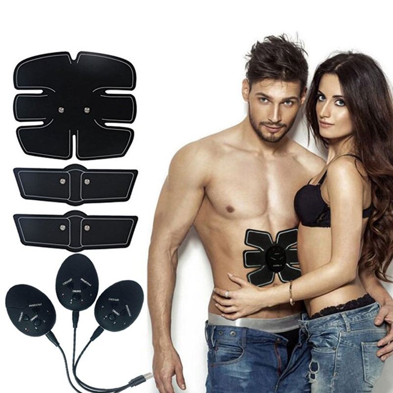 Rechargeable ABS Abdominal Stimulator Muscle Exerciser Lose Weight Electrostimulation Massager Fitness Machine Body Slimming image