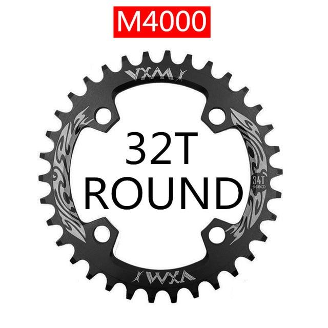 Denkqi 94 Color : Oval 32T Black 96 BCD v/élo chainwheel 32T 34T 36T 38T VTT V/élo Chainring Montagne Couronne Ronde Ovale//Fit for M4000 M4050 GX NX X1 manivelle
