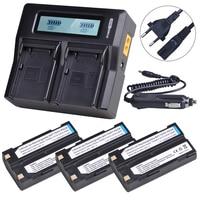 3Pc 7.4V 2600mAh 54344 Battery Akku + Charger for Pentax D LI1 Trimble 5700,5800,R6,R7,R8,TSC1 GPS RECEIVER Batteries
