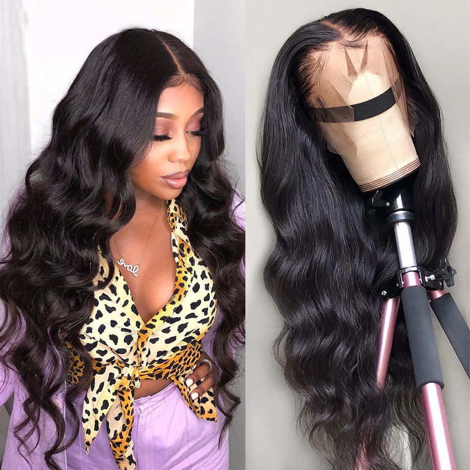 Brazilian Body Wave Lace frontal Human Hair Wigs 13*4 Lace Frontal Wig Natural Hairline With Baby Hair Bleached Knots 8-24inch