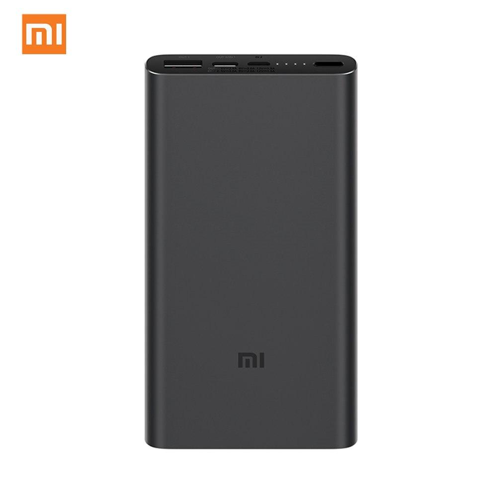 Originale batterie externe de xiaomi 3 10000mAh PLM12ZM USB type C QC3.0 Charge Rapide mi Powerbank 10000 Chargeur Portable Poverbank