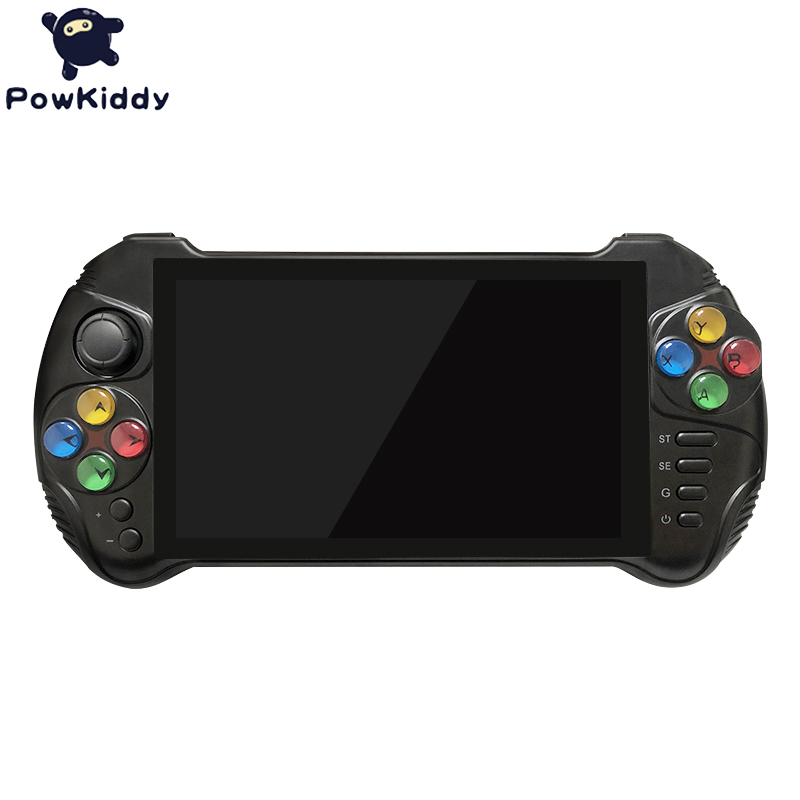 Powkiddy X15 Andriod Handheld Game Console 5.5 INCH 1280*720 Screen MTK8163 quad core 2G RAM 32G ROM Video Handheld Game Player 4