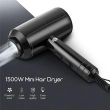 1500W Mini suszarka do włosów niski poziom hałasu technologia jonowa suszarka nadmuchowa szybkoschnąca suszarka podróżna gorąca chłodne pozbawiające tchu 2 prędkość 2 ustawienie ciepła 31