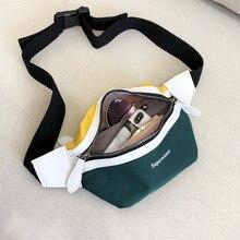 Canvas Fanny Pack Letter Bum Belt Bag SF