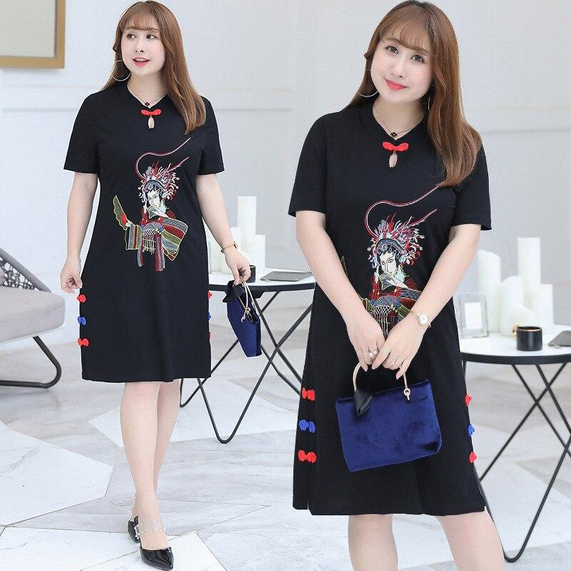 [Xuan chen] весенне летнее Новое Стильное платье больших размеров для девочек, платье больших размеров, платье с национальным ветром, поколение