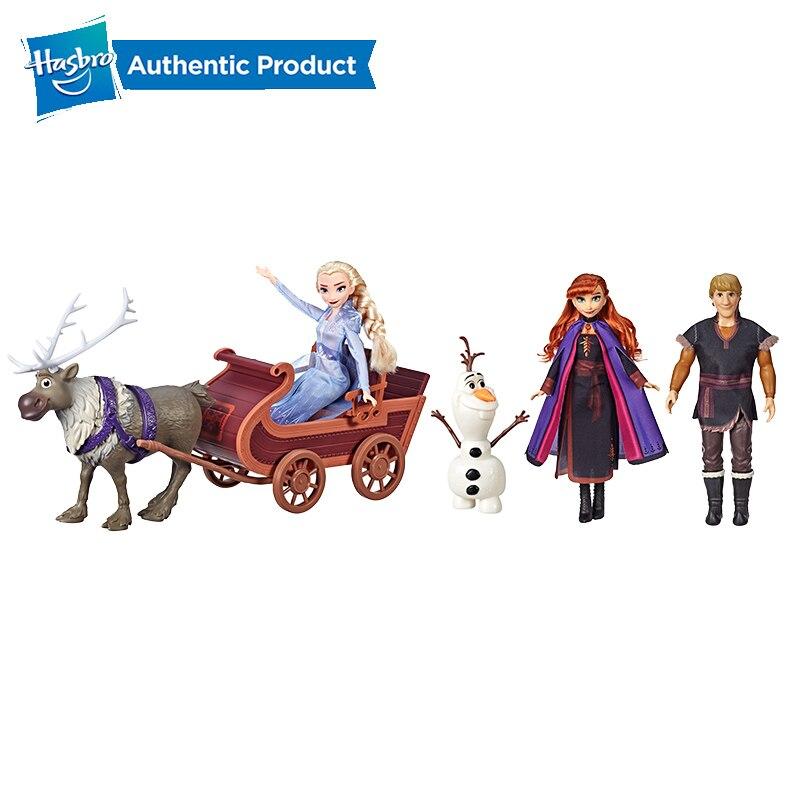 Hasbro Disney princesse reine des neiges traîneau aventure ensemble de poupée comprenant Elsa Anna Kristoff ensemble de poupée de mode Olaf