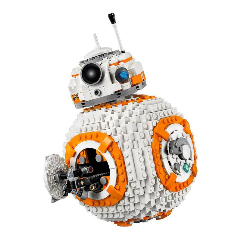 1238Pcs <font><b>BB8</b></font> <font><b>Star</b></font> <font><b>Wars</b></font> Robot Set Series 75187 Building Blocks Toys Compatible Lepining StarWars image