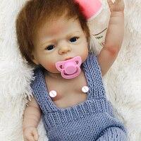 55cm Full Silicone Body Reborn Baby Doll Toy For Girl Vinyl Newborn bebe boneca rebor Accompanying Toy Birthday Gift