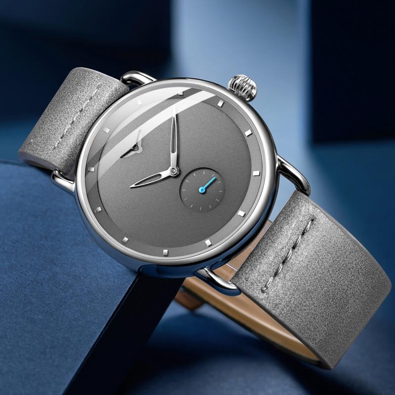 Casual watch men brand ONOLA quartz wristwatch simple waterpoor leather man watch Luxury watches 3