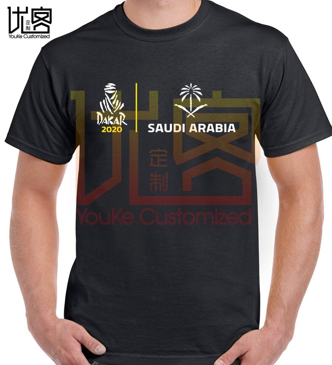 2020 Dakar Rally Racing Saudi Logo T Shirt Men's Women's 100% Cotton Short Sleeves Tops Tee Printed Crewneck Casual T-shirt