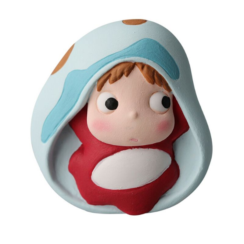 Cute Cartoon Ponyo Pendant Epoxy Resin Silicone Mold Jewelry Making Craft Tools T4MD(China)