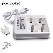 Palo Smart indicateur LED affichage C D AA AAA chargeur de batterie pour 1.2V NiCd NiMh AA AAA C D chargeur rapide de batterie Rechargeable