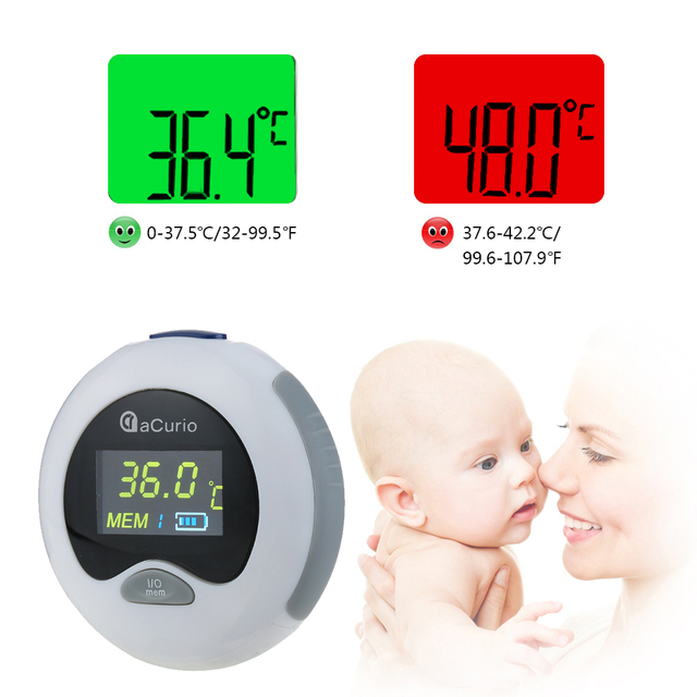 Ear Thermometer Digital Infrared LCD Temperature Monitor Mini Ear Thermometer For Baby Kids Adults