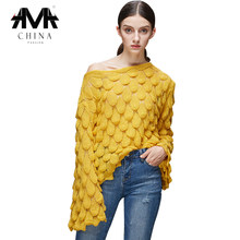 2019 Casual off schulter pullover frauen Herbst winter oversize-pullover weibliche Jumper Damen Mode pullover streetwear(China)