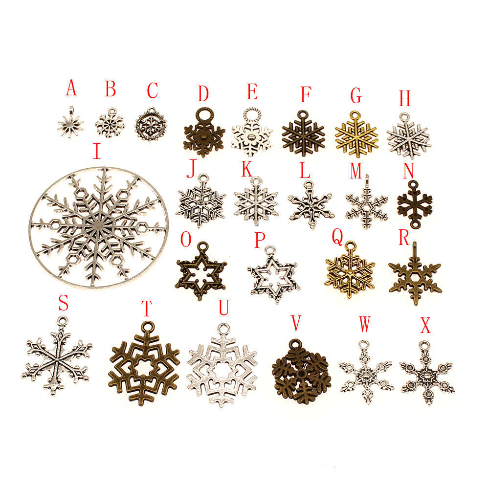 10pcs Snowflake Charm Jewelry Findings Initial Charms Pendants Charms Jewelry Making Supplies