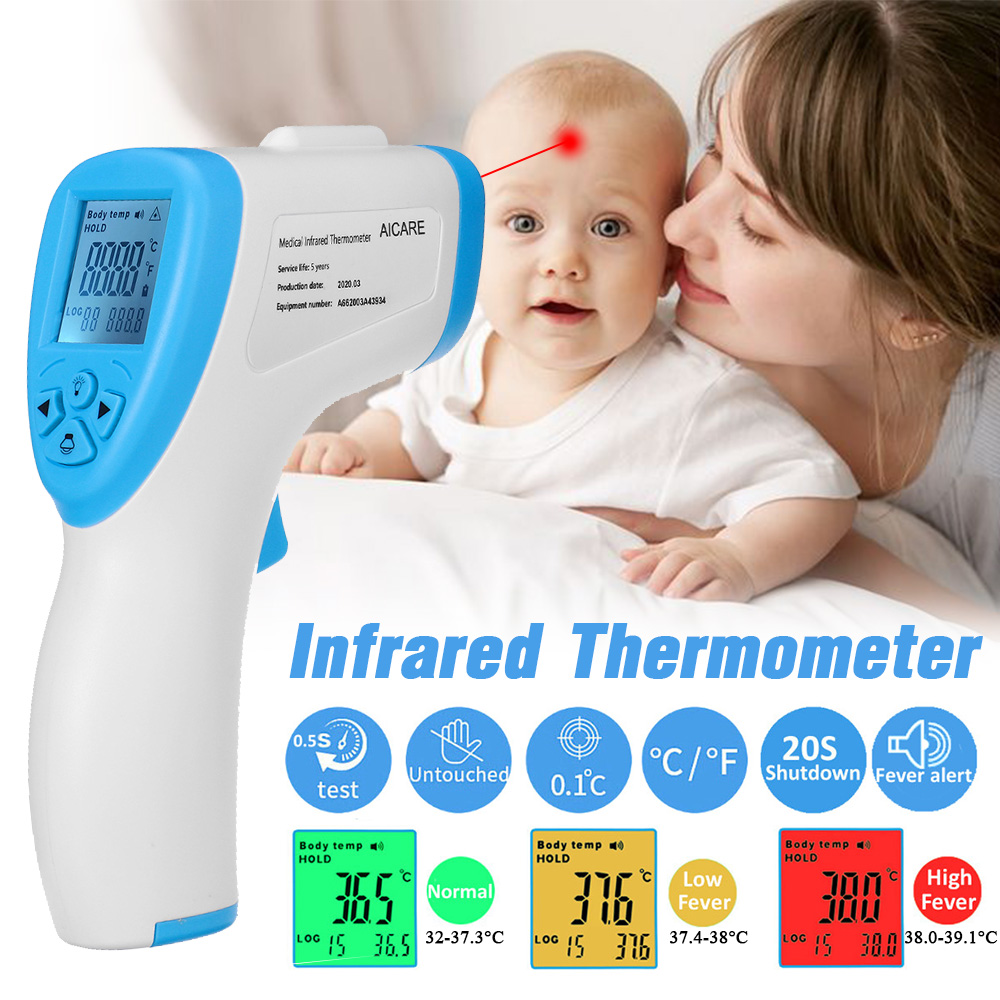 Kids Baby Infrared Non-contact Thermometer Muti-fuction Digital Termometer Infrared Forehead Body Thermometer Gun For Adult