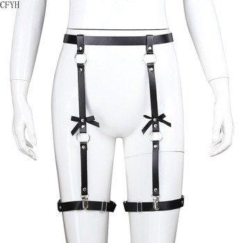 SM Women Bow Leather Sling Bondage Pants BDSM Couples Adult Sex Toy Rivet Restraint Body Harness Fetish Cosplay