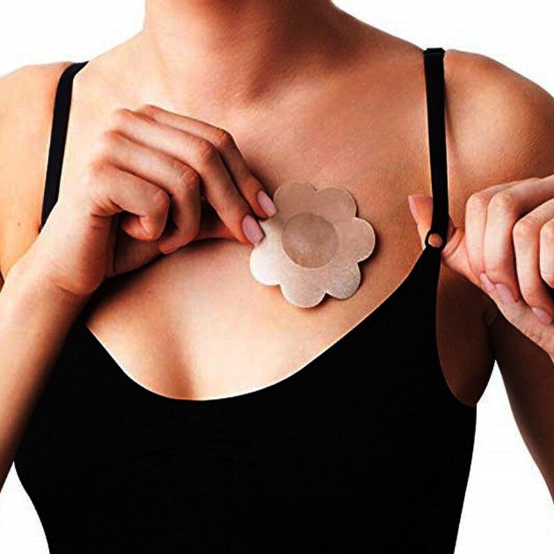 5 paires/lot pétales de sein réutilisable Invisible auto-adhésif autocollant couverture soutien-gorge pour femmes Pasties coeur fleur intimes accessoires