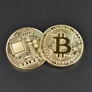 Image 4 - 50 teile/los Sammlerstücke Bitcoin münze BTC Bit Metall Münze Gedenkmünzen Für Souvenir