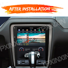 Ford Mustang 2010 2014 için Android 9.0 4 + 64GB dikey ekran araba GPS navigasyon Stereo kafa ünitesi multimedya oynatıcı radyo gümüş