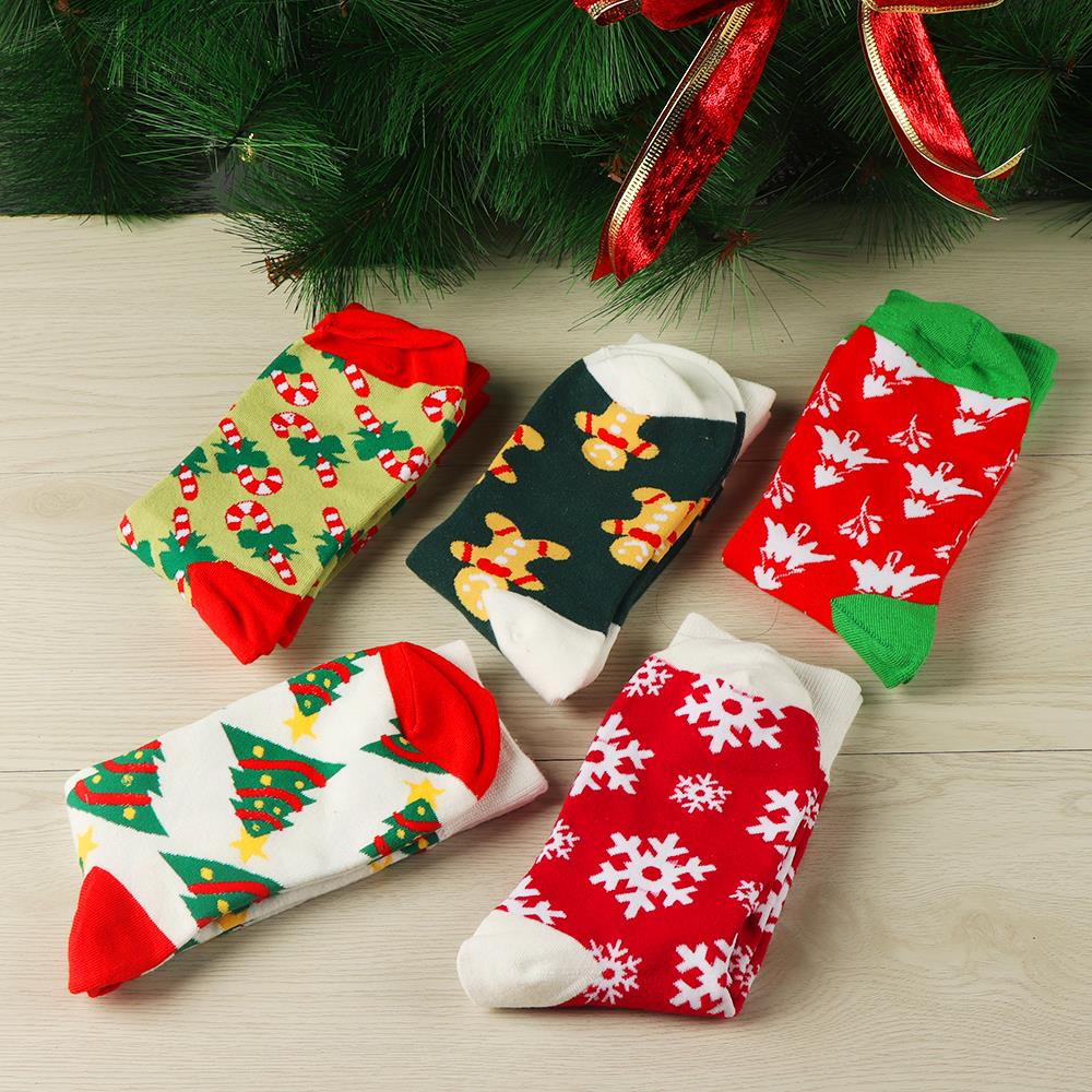 H2dd93021095a4bf3bf51e8e1acac42c4a - 1pair Fashion Christmas Socks Women Cartoon Funny Cute Winter Female & Hosiery Cotton Square Foot Personality Socks Harajuku