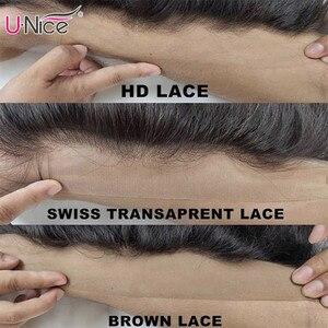 Image 5 - Unice髪5X5 hdレース閉鎖28 30インチペルーストレートヘア3バンドル4個4 × 4スイスレース人間の髪織りレミーヘアー