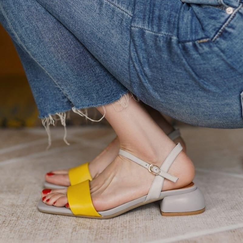 Tuyoki tamanho 33-40 sandálias femininas couro real