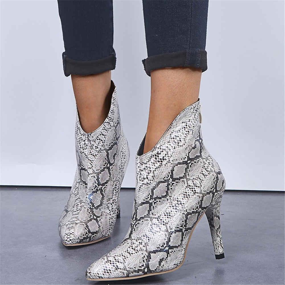 Karinluna 2019 dropship seksi bayan ayakkabı kadın botları kadın ayakkabısı sivri burun üzerinde kayma ince yüksek topuklu ayak bileği çizmeler kadın ayakkabıları