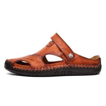 Classic Mens Sandals Genuine Leather  2