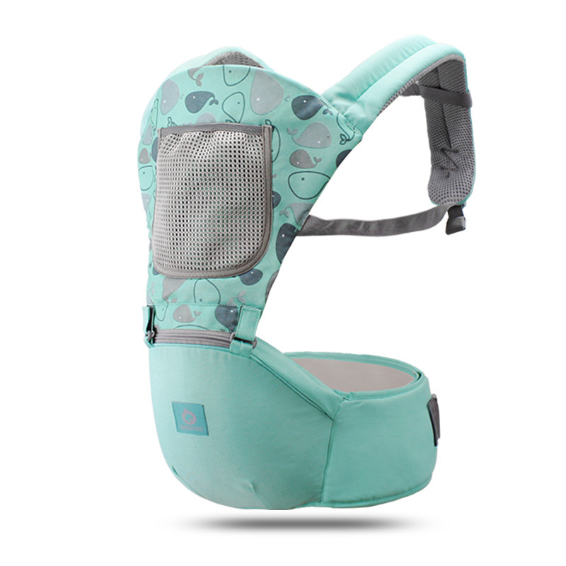 Aiebao Baby Carrier Ergonomic 360 Backpack Sling For Newborns Soft Baby Carrier Waist Stool Walkers Infant Kid Hips Seat 0-48m