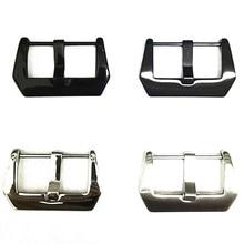 Оптовая продажа, 30 шт./лот, пряжка для часов, нержавеющая сталь, Пряжка для часов, винт, серебристый, черный цвет, Блестящий Матовый Стиль, 20 мм, 22 мм, 24 мм, 26 мм