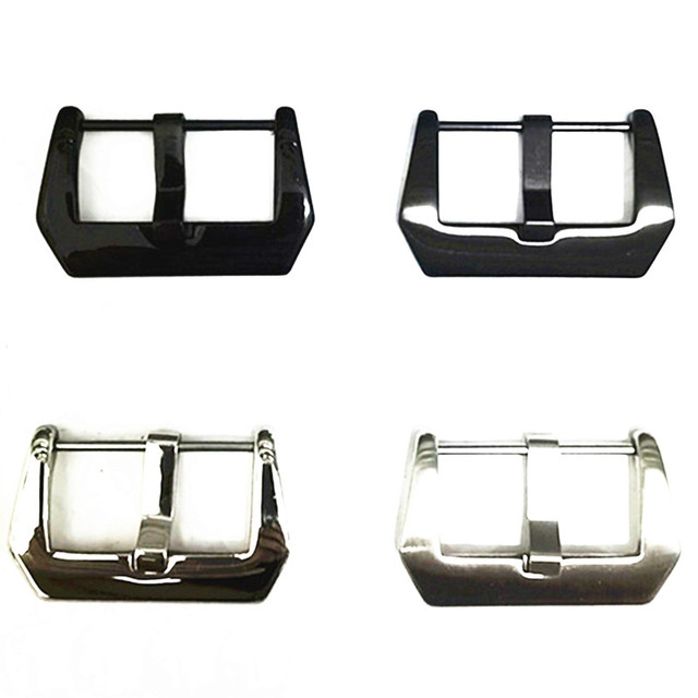 Wholesale 30Pcs/Lot Watch Buckle Stainless Steel Watch Buckle Screw Silver Black Color Shiny Matte Style 20MM 22MM 24MM 26MM