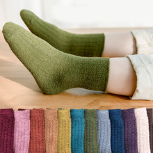 kids winter socks teens girls boy thermal stripe long sock children toddler velv