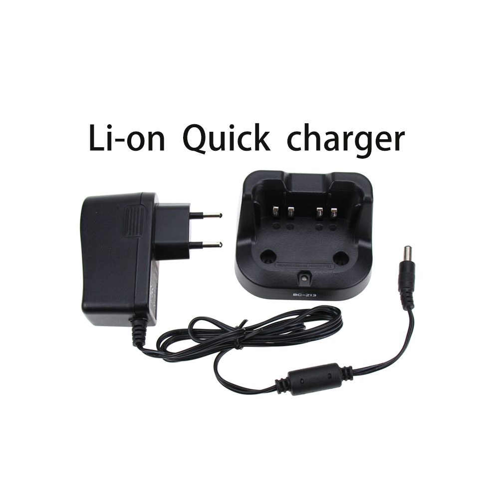 BC213 Quick Desktop Battery Charger For ICOM F1000 F2000 F1100 F2100D A16 Walkie Talkie