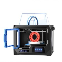 QIDI TECH طابعة ثلاثية الأبعاد طابعة طارد مزدوج ثلاثية الأبعاد X  pro 4.3 بوصة تعمل باللمس واي فاي/lan اتصال 200*150*150 مللي متر طباعة facesheild