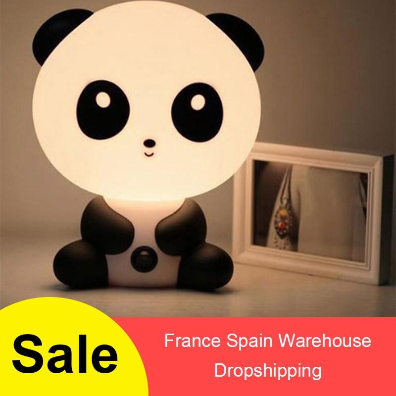 Cute Baby LED Night Light ABS Baby Sleeping Lamp Cartoon Panda Home Decor Table Lamp Christmas Gift  21 * 19 * 25.5cm * 4