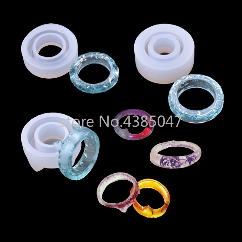 1PC Cat Diamond Flat Shaped Ring Pendant DIY Silicone Mold Dried Flower Jewelry Accessories Tools Equipments Resin Molds