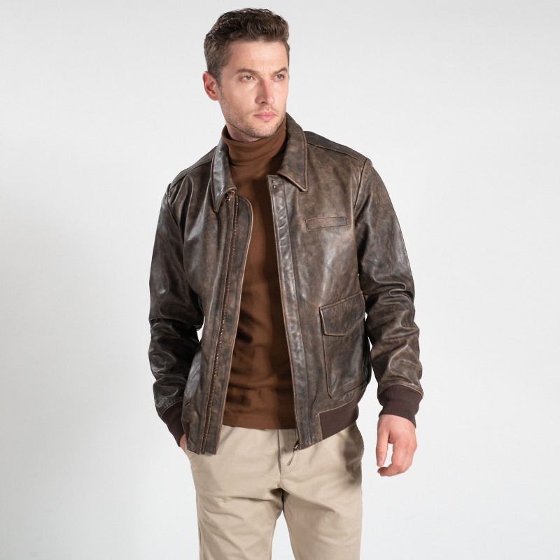 Free Shipping,Brand New Mens 100% Genuine Leather Jackets,casual Classic Us Army A-2 Cowhide Jacket,vintage Coat.flight Clothes