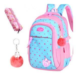 Image 3 - Школьные сумки для девочек со звездами, детский студенческий рюкзак, сумка для начальной школы, детские сумки, рюкзак Mochila Infantil
