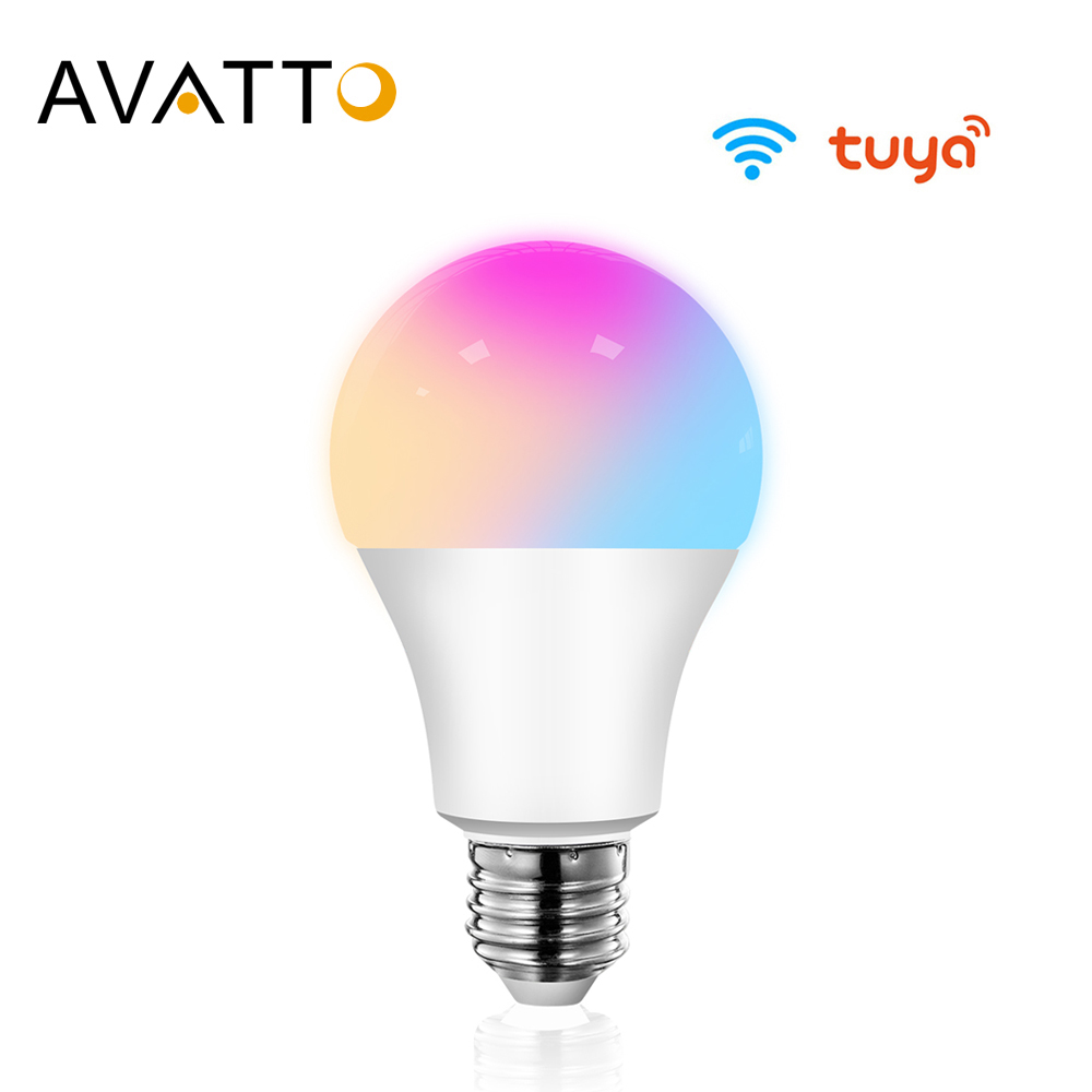 AVATTO Tuya 15W WiFi Smart Home Light Bulb E27 RGB LED Lamp Dimmable with Smart Life APP Voice Control for Google Home Alexa