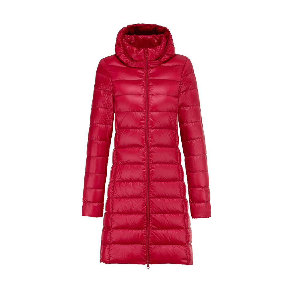 Women Winter Warm Cotton Solid Candy Color Thin Slim Down Coat Jacket Overcoat