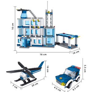 Image 3 - City Police Station SWAT Building Blocks Car Helicopter House Truck Creative Bricks Toys For Children Boys
