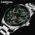 Карнавал T25 светящиеся кварцевые часы с подсветкой мужские камуфляжные водонепроницаемые часы мужские спортивные военные наручные часы му...