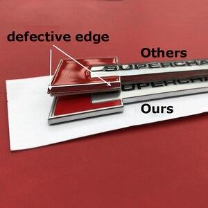 Красно-черный Алмазный Блок, значок, текстовая Эмблема Для Audi SUPERCHARGED A4 A5 A6L Q3 Q5 Q7, автомобильный Стайлинг, багажник, крыло, логотип, наклейка
