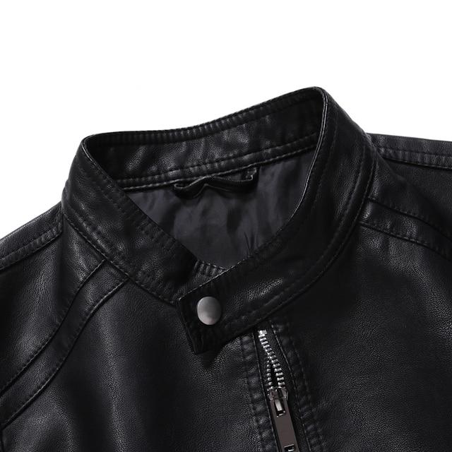 Men Faux Leather Jacket Motorcycle 5XL Men's  Jackets Black  Jaqueta De Couro Masculina Outwear Male PU Leather Coats Mens,ZA319 3