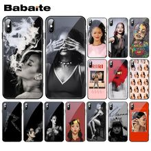Phone-Case 6S 6-Plus Babaite for 11 Pro XS MAX XR Rihanna Tempered-Glass Fenty Robyn