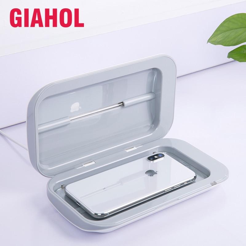 Podwójny sterylizator UV przenośne pudełko do czyszczenia higiena osobistej dezynfekcji ultrafioletowej szafka na telefon Jewerly Watch maski Cleaner