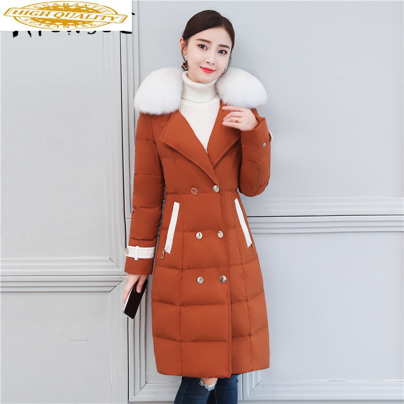 Women's Down Jacket Winter Coat Female 2020 Korean Thick Duck Down Coats With Fox Fur Collar Ladies Outwear Hiver 5